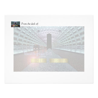 Washington D.C. and the Metro Subway Letterhead Template