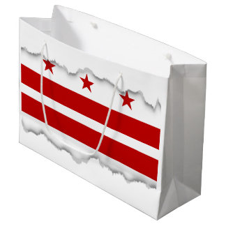 Washington D.C. flag Large Gift Bag
