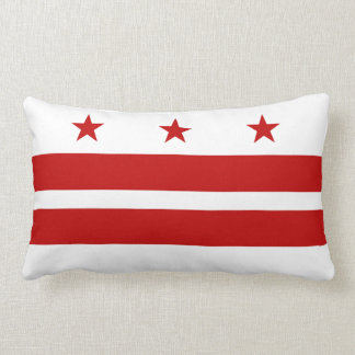 Washington D.C. flag Lumbar Pillow
