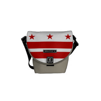 Washington D.C. flag Messenger Bag