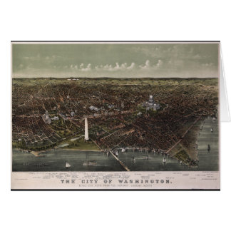 Washington D.C. From Potomac Looking North (1892) Card