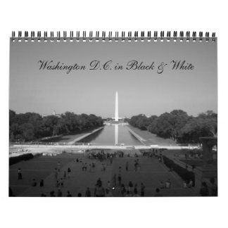 Washington D.C. in black & white Calendar