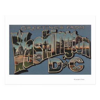 Washington D. C. - Large Letter Scenes Postcard
