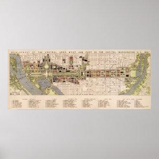 Washington D.C. Mall Plan (1941) Poster