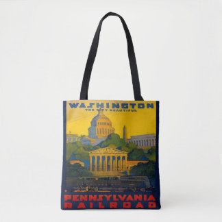 Washington D.C. Pennsylvania Railroad Vintage Tote