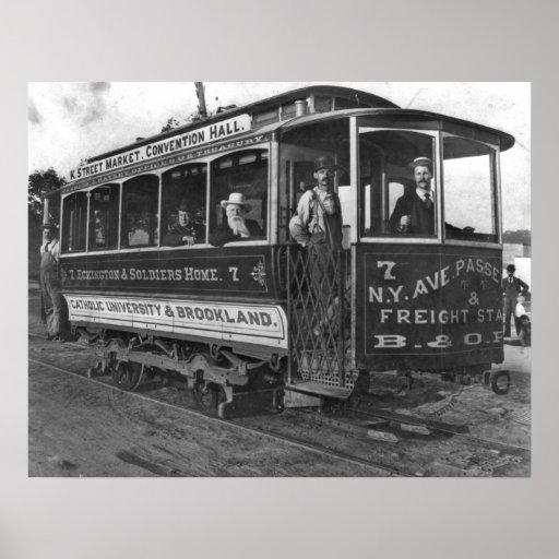 Washington, D.C. Street Car 1890 Poster