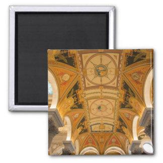WASHINGTON, D.C. USA. Ceiling of second floor Square Magnet