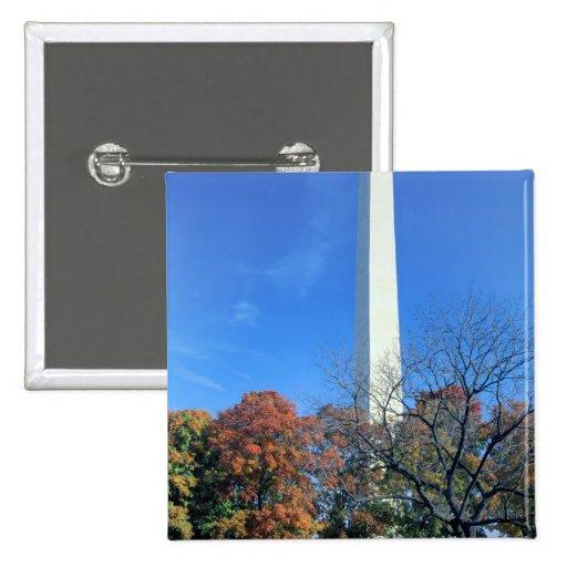WASHINGTON, D.C. USA. Washington Monument rises Buttons