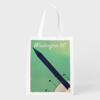 Washington D.C Vintage travel poster Grocery Bag