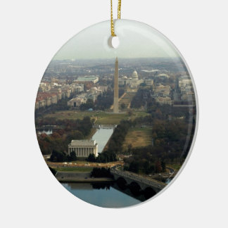 Washington DC Aerial Photograph Ceramic Ornament