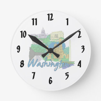 washington dc america city travel graphic vacation clock