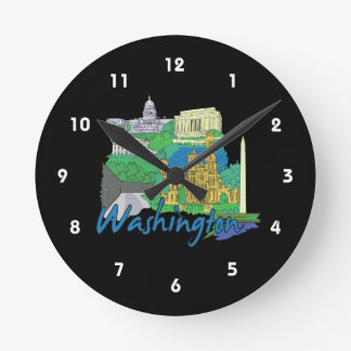 washington dc america city travel graphic vacation wallclock