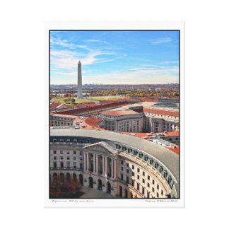 Washington, DC- Autumn- Aerial Canvas Print