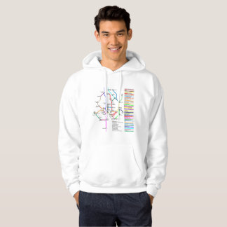 Washington DC Bike Map Men's Hoodie