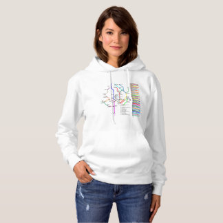 Washington DC Bike Map Women's Hoodie