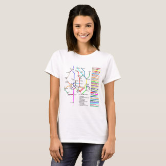 Washington DC Bike Map Women's T-Shirt