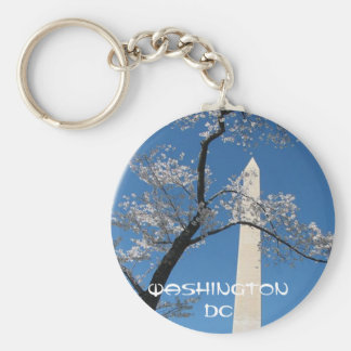 WASHINGTON DC BUTTON KEYCHAIN