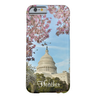 Washington DC Capitol Building and Cherry Blossoms Barely There iPhone 6 Case