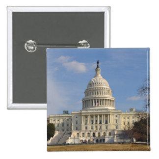 Washington DC Capitol Hill Building 2 Inch Square Button