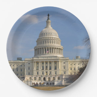 Washington DC Capitol Hill Building 9 Inch Paper Plate