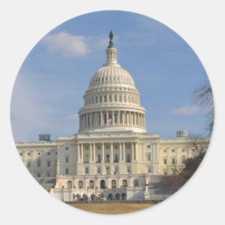 Washington DC Capitol Hill Building Classic Round Sticker
