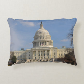 Washington DC Capitol Hill Building Decorative Pillow