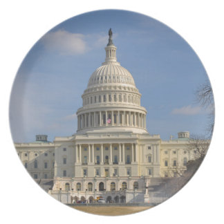 Washington DC Capitol Hill Building Dinner Plates