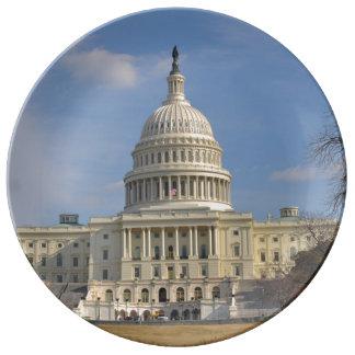 Washington DC Capitol Hill Building Porcelain Plate