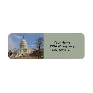 Washington DC Capitol Hill Building Return Address Label
