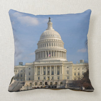 Washington DC Capitol Hill Building Throw Pillow