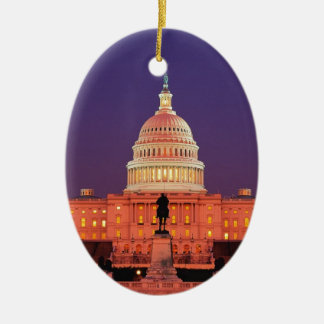 WASHINGTON DC CERAMIC OVAL ORNAMENT