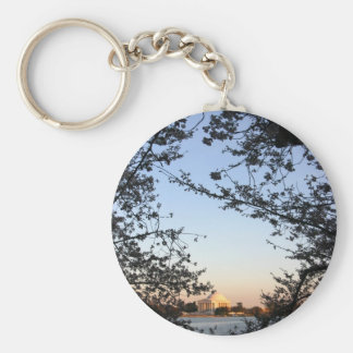 Washington DC Cherry Blossom Basic Round Button Keychain