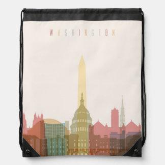 Washington, DC | City Skyline Drawstring Bag