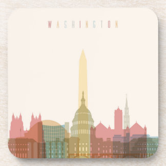Washington, DC | City Skyline Drink Coasters