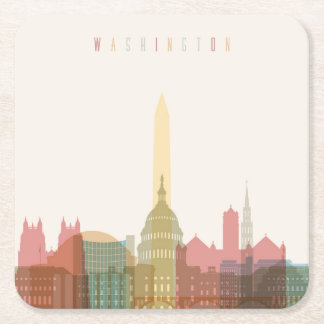Washington, DC | City Skyline Square Paper Coaster
