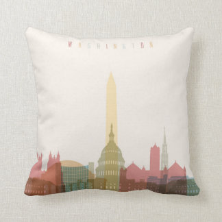 Washington, DC | City Skyline Throw Pillow