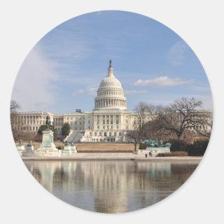 Washington DC Classic Round Sticker