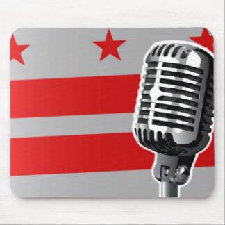 Washington DC Flag And Microphone Mouse Pad