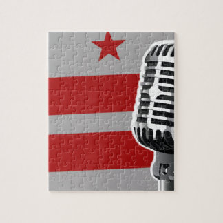 Washington DC Flag And Microphone Puzzles