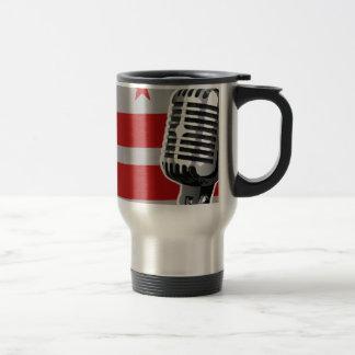 Washington DC Flag And Microphone Travel Mug