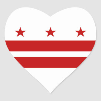 Washington DC Flag Heart Sticker