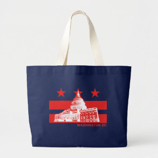 Washington DC Flag Large Tote Bag