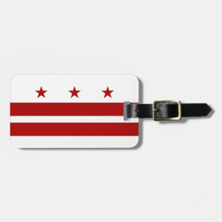 Washington DC Flag Luggage Tag