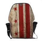 Washington DC Flag on Old Wood Grain Commuter Bag