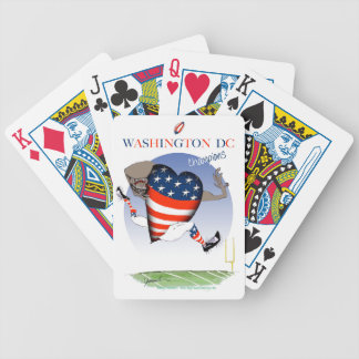 Washington DC football champs, tony fernandes Bicycle Playing Cards