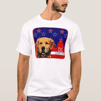 Washington DC Golden Retriever T-Shirt