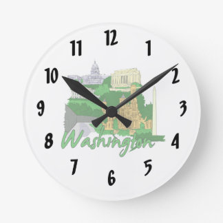 washington dc  green america city travel vacation. wallclocks