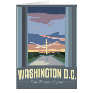Washington DC Greeting Card