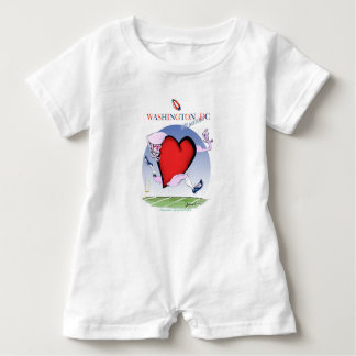 Washington DC head heart, tony fernandes Baby Romper