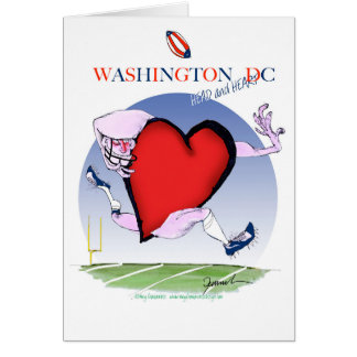Washington DC head heart, tony fernandes Card